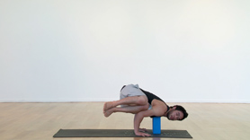 Connecting arm balances can be a challenging thing to do. Transitioning from one arm balance to the other requires arm and core strength...but more importantly the willingness to try things that may seem impossible! In this short tutorial we break down the transition from Eka pada koundinyasana 1 (twisted arm balance), to dwi pada koundinyasana (two-footed arm balance) and into Eka pada koundinyasana 2 (arm balance w/ leg to the side).  Variations are given using a block underneath the chest. Work your chatturanga my fellow yogis. It is the gateway to the arm balances!