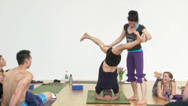Inversions are expressions of asana where the head is lower than the heart as an act of humility and a symbol of devotion leading the way in our lives. This sequence has multiple inversions, including handstand, headstand and shoulderstand with a few hanumanasanas sprinkled along the way. Hanuman is the eternal devotee of the heart in service of Love.
