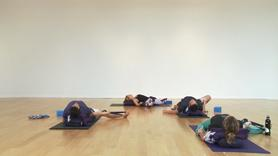 Enjoy a delicious 30 minutes of traditional restorative poses aimed at opening the hips, hamstrings and heart. Long holds with plenty of props to help you unwind after a long day.