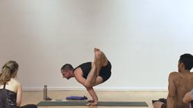 Stoke your fire in this stong class. Begin in standing inversions, headstand, handstand 'hops', some quick vinyasa (up dog-down dog), forward bends, and lotus work to prep and launch into a family of 4 hand balancings (Bakasana, Parsva Bakasana, Urdhva Kukkutasana, Parsva Kukkutasana). Wind down with a short shoulderstand and seated pranayama practice.  Come ready to work hard and have fun!