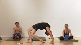 Bring your full hearted effort into this strong class of backbends to Pigeon Pose (Kapotasana). Warm up with standing pose work, handstand and forearm balance work, twists and thigh stretches to open your back and hip flexors and LAUNCH into progressive sequencing of full hearted backbends.