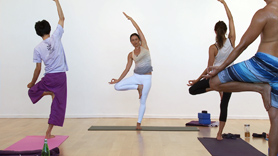 This class for melting stress and restoring your energy, although it's not a restorative class per se. There will be flow, however the focus is on flipping the switch and activating the parasympathetic nervous system: the one that is directed at creating internal equilibrium in the body. This is often called the 'rest & digest' system as opposed to the other that we are familiar with called the 'fight or flight' and is stress inducing. Try some variations in some new postures and feel if perhaps they can relieve some common tension. Warrior 2 (virabhadrasana 2) with the head supported, crescent moon (anjaneyasana) with cactus arms, tree (vrksasana) with finger tips lightly touching above the head. Root lock pose (mulabandhasana) with knowledge seal (jnana mudra) to help bring the mind into a calm and tranquil state. Inversion time at the end and savasana!