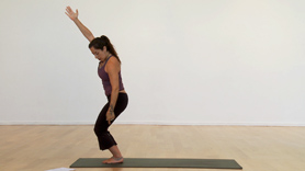 This segment reviews the 1/2 Vinyasa and Surya Namaskar A, and introduces Surya Namaskar B.  This can be followed as a 30-minute basic Ashtanga yoga practice and also teaches you how to develop a 'minimum daily practice' which takes 12 minutes. 