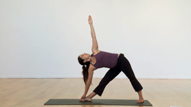 This 40-minute practice includes Surya Namaskar A, Surya Namaskar B and the Fundamental standing postures of the Ashtanga Vinyasa practice.  This segment can be utilized as a 40-minute basic Ashtanga Yoga practice.