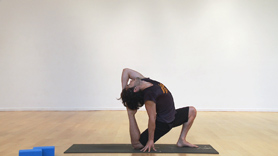A shortened backbend practice that is sure to leave you bright and full of energy! If you only have a limited amount of time, but want to get deep into the upper back, this is the practice for you my fellow yogis. Enjoy!