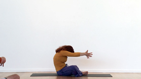 Unwind the spine with this practice that begins with neck and shoulder